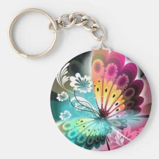 Resplandor de la mariposa llavero redondo tipo pin