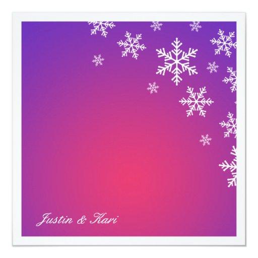 resplandor de la púrpura del copo de nieve comunicados personalizados