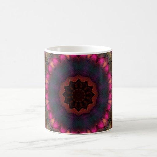 Resplandor de la tela escocesa tazas de café