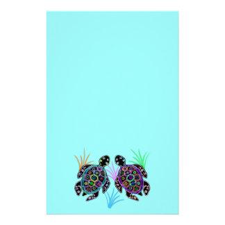 Resplandor de la tortuga de mar personalized stationery