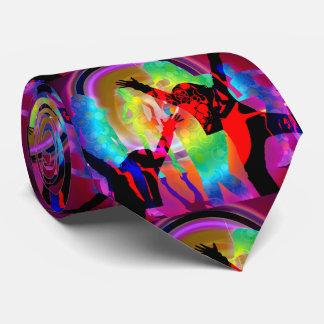 Resplandor de los chicas de baile en la oscuridad corbata personalizada