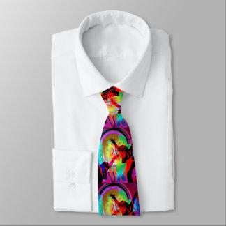 Resplandor de los chicas de baile en la oscuridad corbatas personalizadas