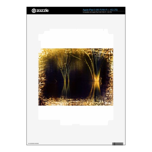 Resplandor de oro Waterscape iPad 3 Skins