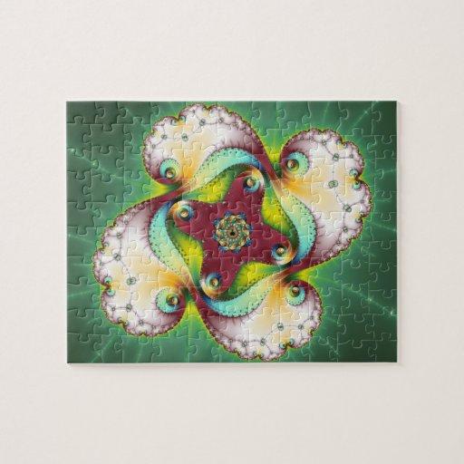 Resplandor de Subltle - arte del fractal Rompecabeza Con Fotos