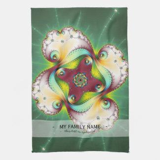Resplandor de Subltle - arte del fractal Toallas De Cocina
