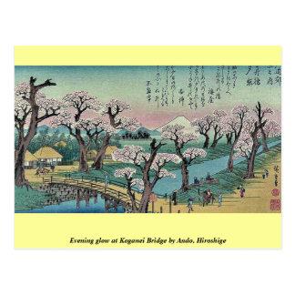 Resplandor de tarde en el puente de Koganei por An Tarjeta Postal