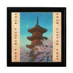 Resplandor de tarde en la capilla de Ueno Toshogu  Cajas De Joyas