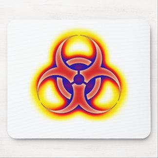 Resplandor del Biohazard Tapetes De Ratón