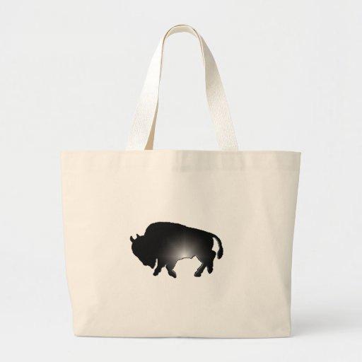 Resplandor del búfalo bolsa tela grande