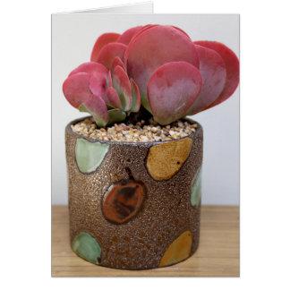 Resplandor del color Notecard - la planta perfecta Felicitacion