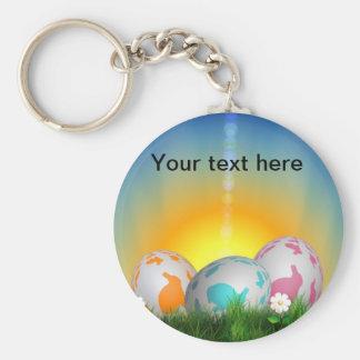 Resplandor del huevo de Pascua Llavero
