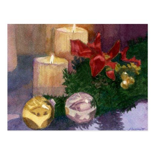 Resplandor del navidad postal
