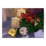 Resplandor del navidad tarjeta de felicitación