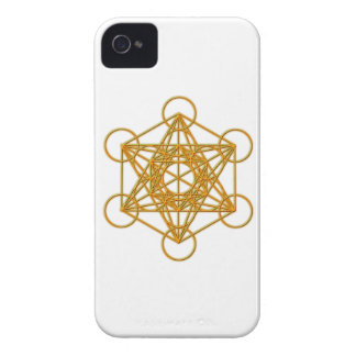 Resplandor del oro de Metatron iPhone 4 Case-Mate Cárcasa