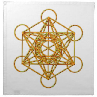 Resplandor del oro de Metatron Servilleta Imprimida