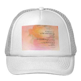 Resplandor del rosa del rezo de la serenidad gorra