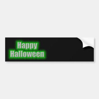 Resplandor del verde del feliz Halloween Pegatina Para Auto