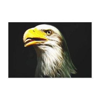 Resplandor eléctrico calvo de Eagle envuelto Impresión En Lona Estirada