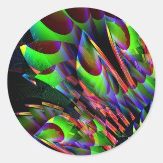 Resplandor en el Abstract.JPG oscuro Pegatina Redonda
