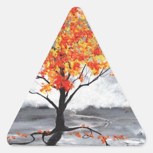 Resplandor en el crepúsculo #6 pegatina triangular