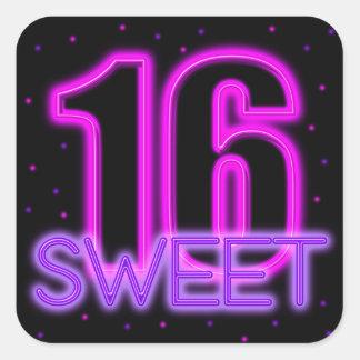 Resplandor en el dulce oscuro 16 pegatina cuadradas