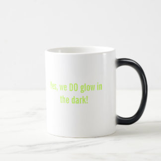 Resplandor en la taza Morphing oscura
