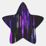 Resplandor espacioso calcomania forma de estrella personalizada
