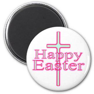 Resplandor feliz de Pascua Imán Redondo 5 Cm