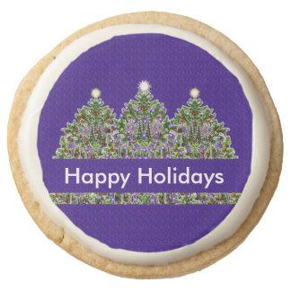 Resplandor feliz del árbol de navidad del día de