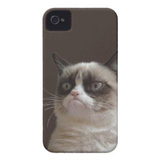 Resplandor gruñón del gato carcasa para iPhone 4