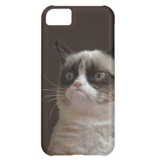 Resplandor gruñón del gato carcasa para iPhone 5C