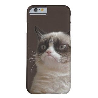 Resplandor gruñón del gato funda de iPhone 6 barely there