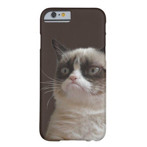 Resplandor gruñón del gato funda de iPhone 6 slim