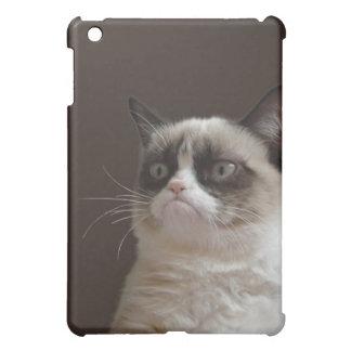 Resplandor gruñón del gato iPad mini coberturas