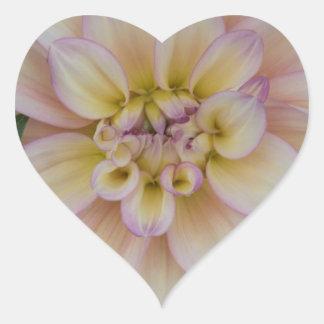 Resplandor interno pegatina en forma de corazón