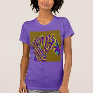 Resplandor púrpura del arte de la cebra camiseta