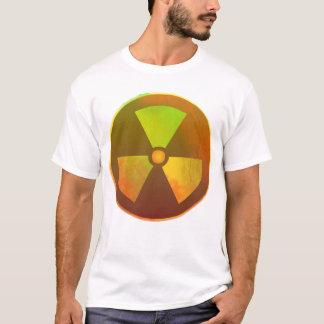 Resplandor radiactivo del símbolo nuclear playera