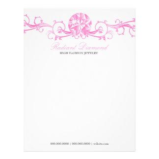 Resplandor rosada del diamante 311 plantillas de membrete