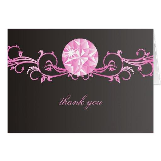 Resplandor rosada del diamante 311 tarjeta pequeña