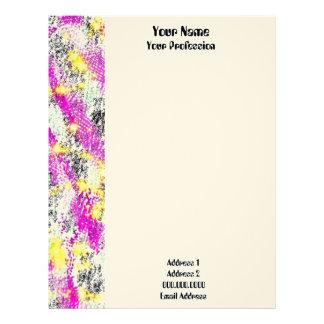 Resplandor solar abstracto del rosa y del amarillo membrete