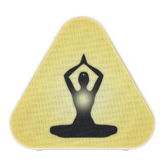 Resplandor solar amarillo de la meditación del zen altavoz bluetooth