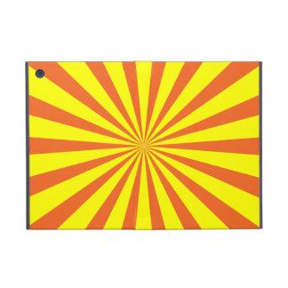 Resplandor solar amarillo-naranja simple iPad mini fundas