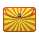 Resplandor solar amarillo-naranja simple funda para macbooks