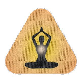 Resplandor solar anaranjado de la meditación del altavoz bluetooth