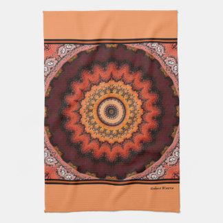 Resplandor solar azteca toallas de cocina