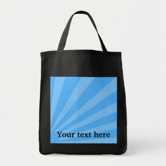 Resplandor solar azul bolsa tela para la compra