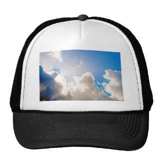 Resplandor solar azul claro gorras