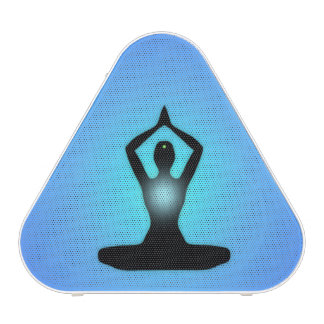 Resplandor solar azul de la meditación del zen altavoz