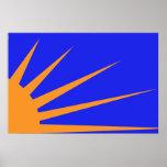 Resplandor solar, bandera política de Colombia Poster