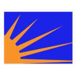 Resplandor solar, bandera política de Colombia Postales